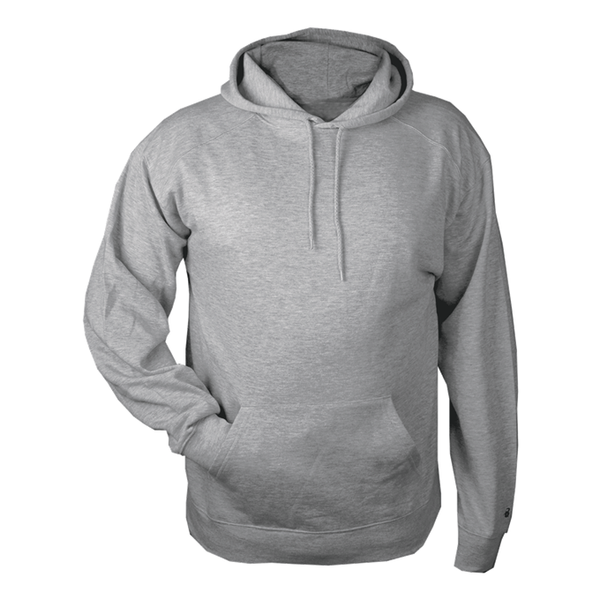 Badger Hooded Grey Fleece