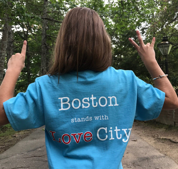Boston Stands with Love City - STJ Strong Tees