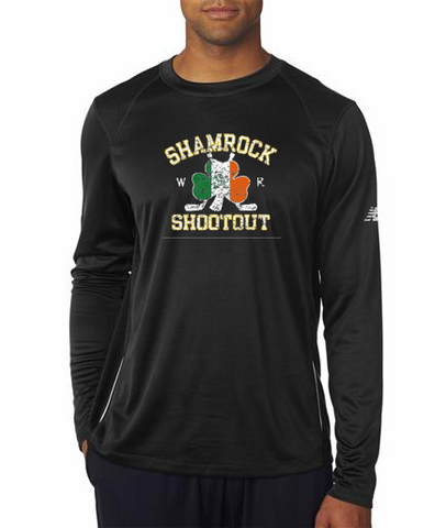 Black Faded Shamrock Shootout - New Balance - LS Tees