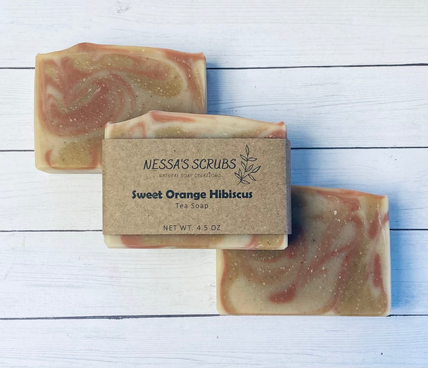 Sweet Orange Hibiscus Soap 1