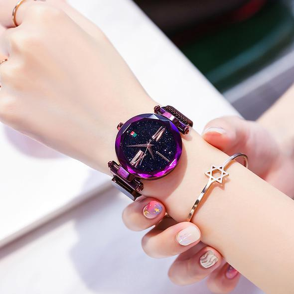 ( Global FREE SHIPPING ) Luxury Rose Gold Women Watch Magnet
