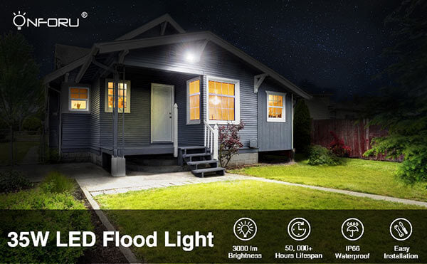 35W LED Flood Light with Light Shield 2 Pack Outdoor Floodlight for Yard, Garden