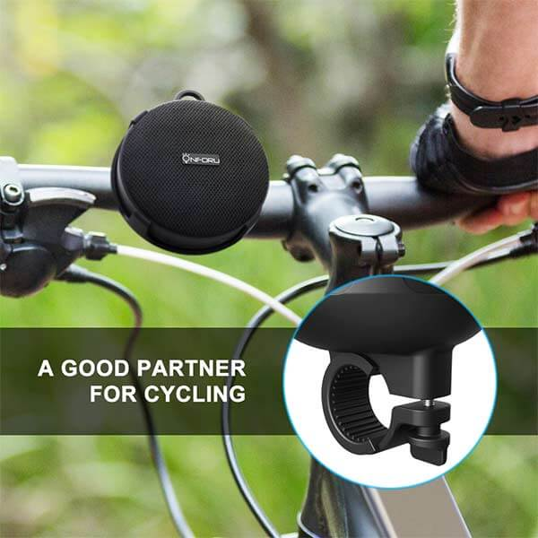 Onforu Portable Wireless Bluetooth Speaker with Holder for Cycling, IPX7 Waterproof Bicycle Speaker, Shower Speaker for Home, Camping, Hiking, Sports, Boating, Pool, Beach