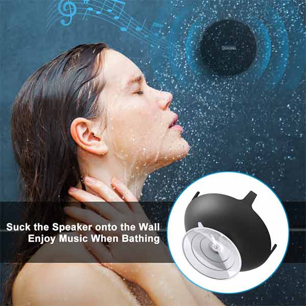 Onforu Portable Wireless Bluetooth Speaker, IPX7 Waterproof Shower Speaker with Suction Cup, Built-in Mic for Bathroom, Pool, Beach, Outdoor. Upgraded Bluetooth 5.0