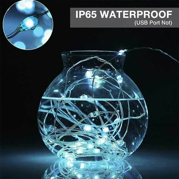 Onforu 33ft RGB Fairy Lights, 16 Colors Changing Outdoor String Lights, 100 LED Starry Lights with Remote & Timer, USB Powered IP65 Waterproof Lights for Bedroom, Parties, Christmas Decor