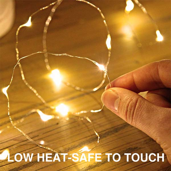 32 Pack Fairy Lights Warm White Battery Operated Waterproof with 15 LEDs