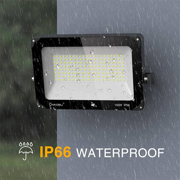 150W LED Flood Light IP66 Waterproof Super Bright Security Lights Outdoor