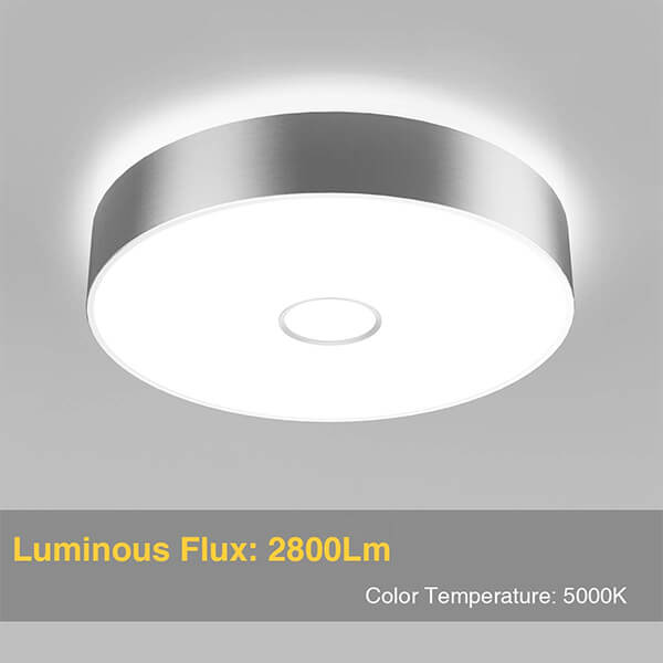 Onforu Waterproof 32W LED Ceiling Lights, CRI 90+, 12.8 inches, 300W Incandescent Bulbs Equivalent, IP65, 2800lm 5000K Daylight White Flush Mount Ceiling Light for Bathroom, Kitchen, Bedroom, Balcony