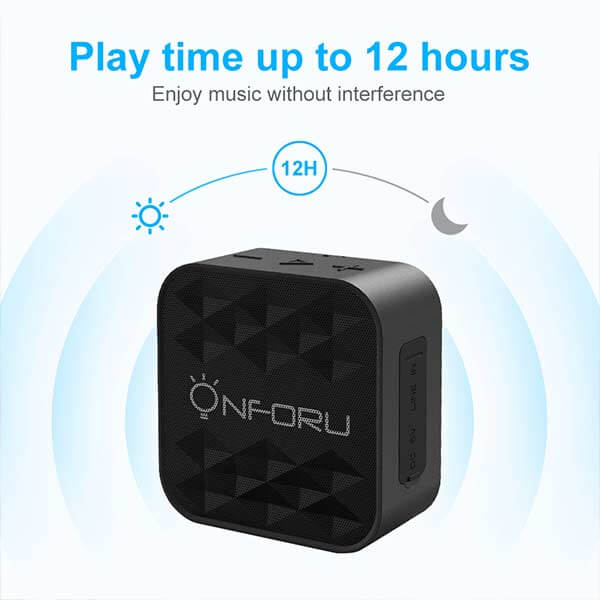 Onforu Bluetooth Speaker, Portable Bluetooth 5.0 Speaker with HD Sound and Bass, Built-in Audio, IPX7 Waterproof Outdoor Speaker, Support TF Card,12H Playtime for Home, Camping, Hiking, Sports, Boating