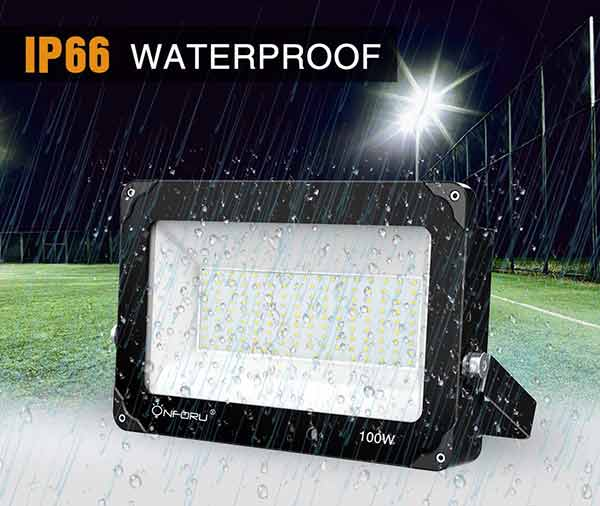 100W LED Flood Light 10000lm Outdoor Floodlight for Yard IP66 Waterproof
