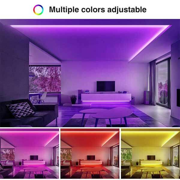 Onforu 16.5ft Smart WiFi LED Strip Lights, 5m Dimmable RGB Light Strip with 150 Units 5050 LEDs, Color Changing Tape Lights Compatible with Alexa, Google Assistant, Android, iOS System, Non-Waterproof.