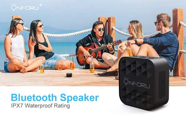 Portable IPX7 Waterproof Outdoor Speaker with HD Sound and Bass