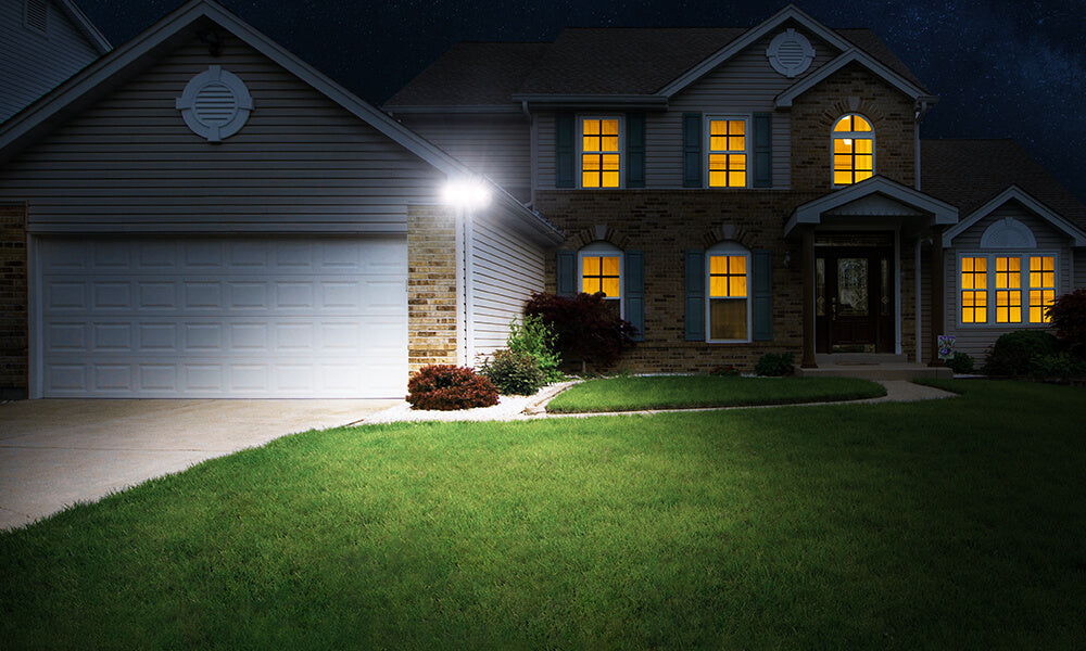 50W 3 Adjustable Heads LED Security Light Super Bright Exterior Wall Mount Light