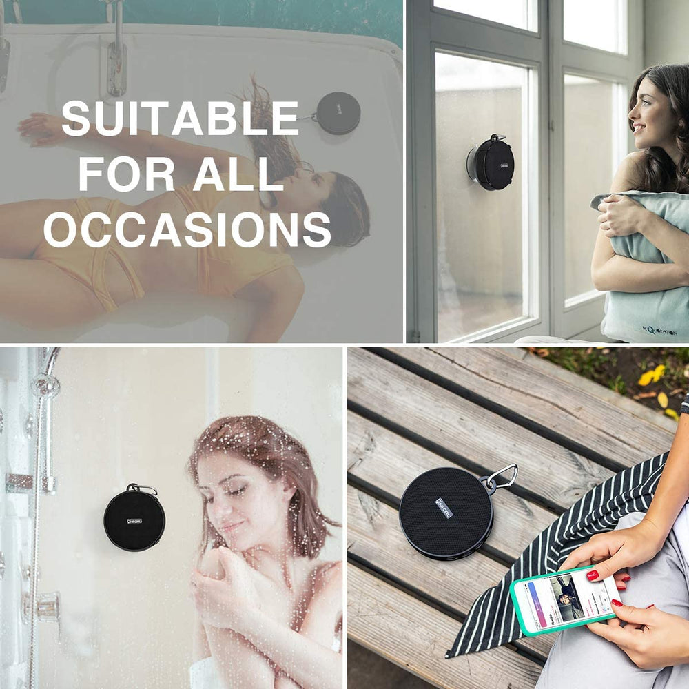 Portable Wireless Bluetooth Speaker IP65 Waterproof Shower Speaker with Suction Cup