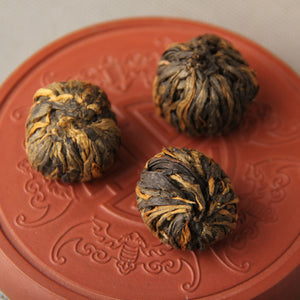 Premium Dragon Pearl Dian Hong black tea