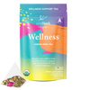 Wellness Tea: 30 Cups - Lemon Mint Wellness Tea, 100% Organic, Supports Immune Health with Echinacea and Elderberry - Pink Stork
