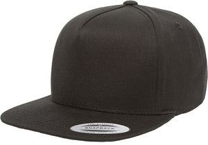 Royal Yupoong Classic 5 Panel Flat Peak Hat