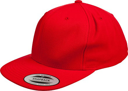 Red Yupoong Classic Flat Snapback