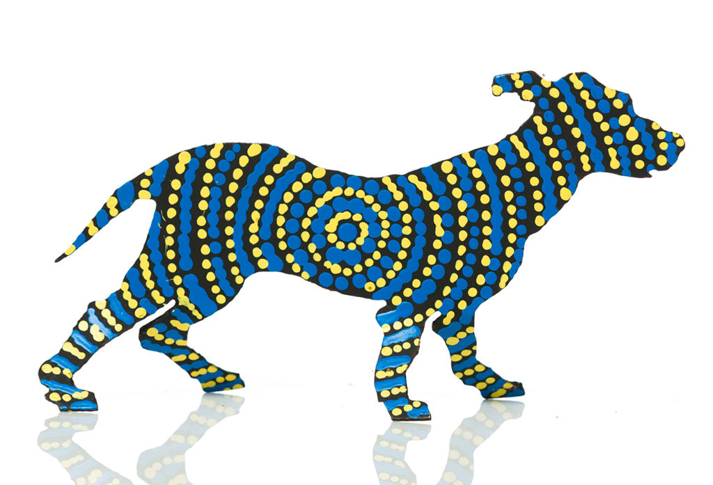 Aboriginal Art Metal Dogs