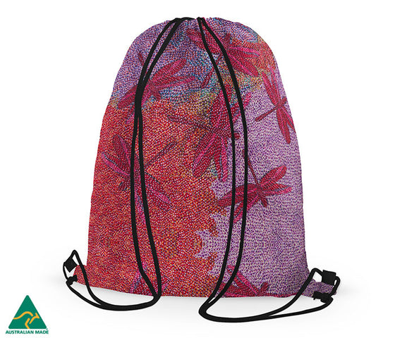 Sheryl J Burchill Drawstring Bag - Sunset