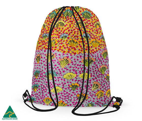 Daisy Moss Drawstring Bag