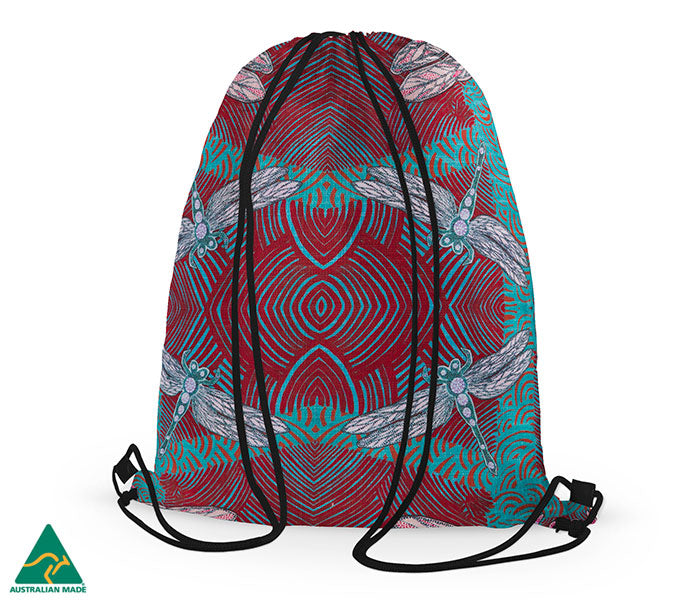 Sheryl J Burchill Drawstring Bag - Ocean