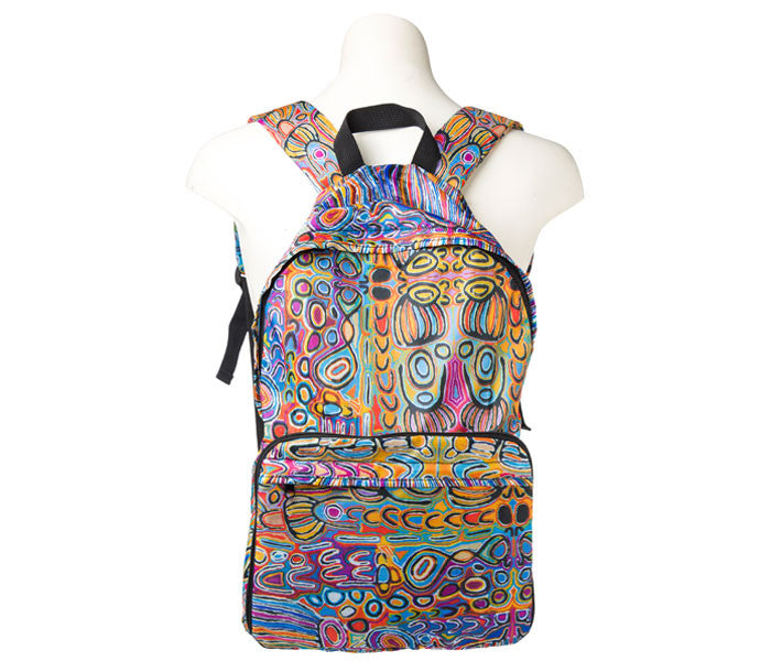 Judy Watson (JU) Fold up Backpack
