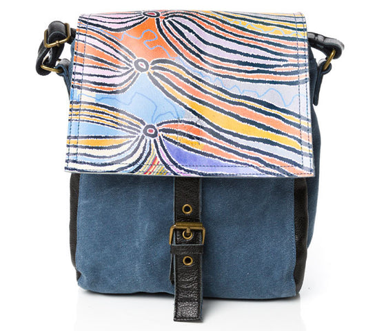 Liddy Walker Leather Canvas Messenger