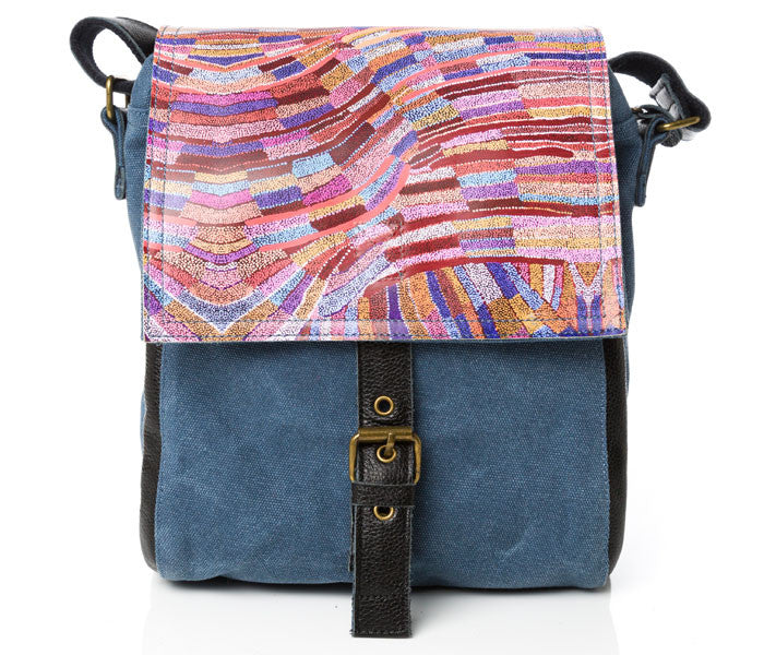 Pamela Walker Leather Canvas Messenger