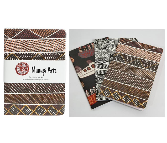 Munupi Arts A6 Notebooks (x3)