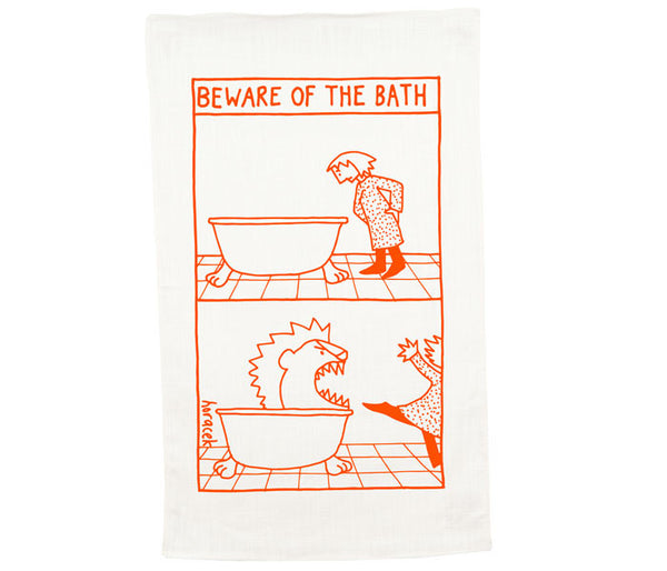 Beware of the Bath Tea Towel