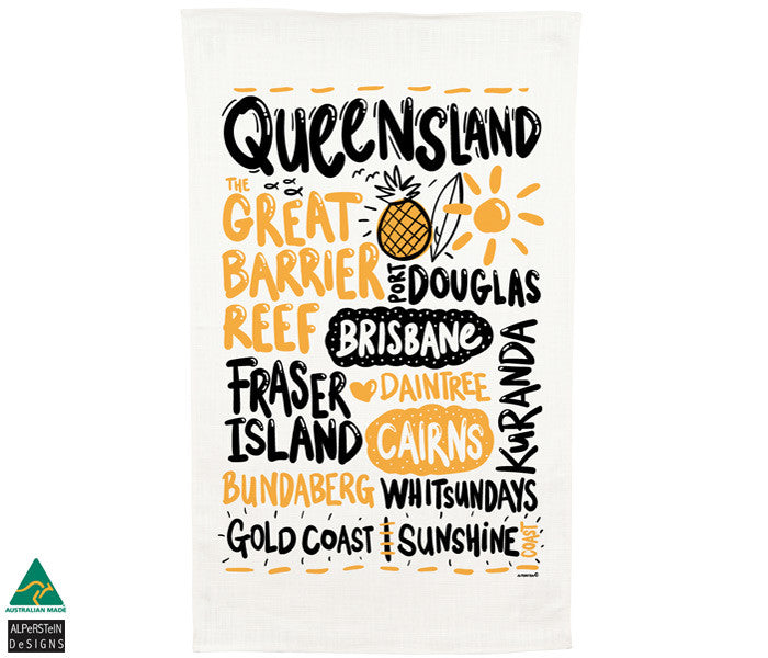 Queensland Tea Towel