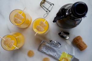Pineapple + Orange Mimosas from Skratch