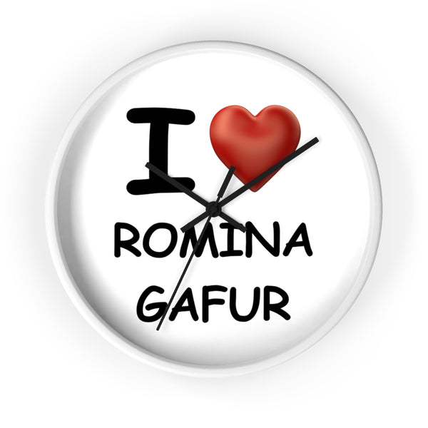 Wall clock - I Love Romina Gafur (One battery required)