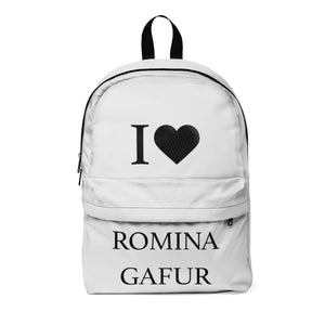 School Backpack - I Love Romina Gafur