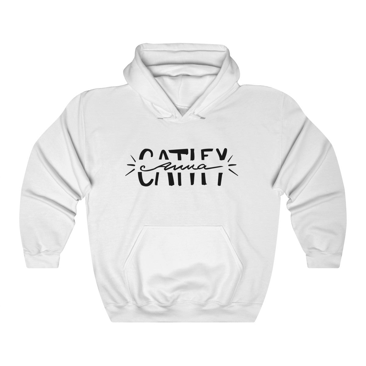 Anna Catify Hoodie (White and Pink)