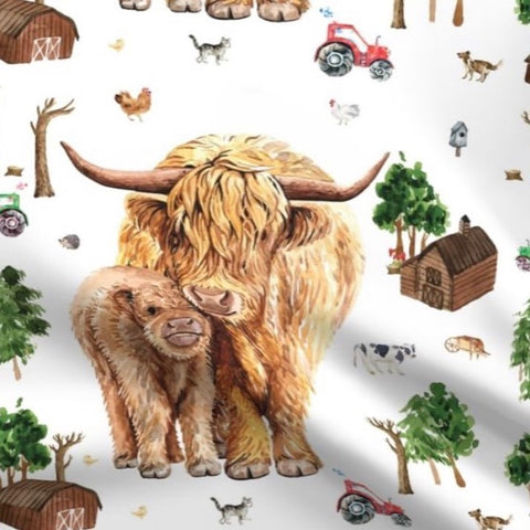 The Little Fawn Highland Cow Blanket