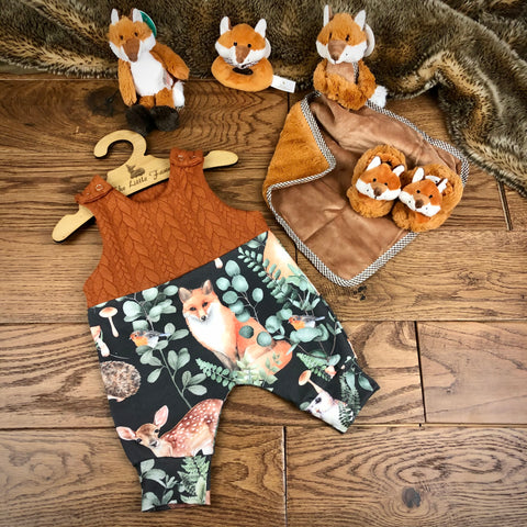 Woodland storybook cable knit topped romper