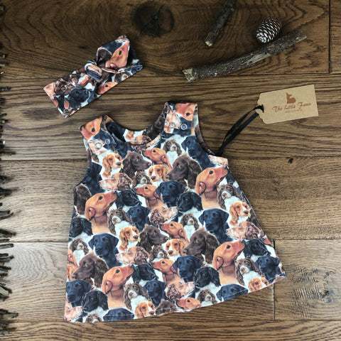 The Little Fawn Working dog A-Line Dress 0-4 years