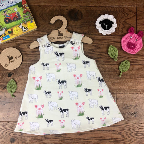 The Little Fawn Farm Animals A-Line Dress 0-4 years