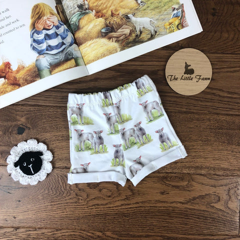 Little Lambs Shorts with rolled cuffs 0-4 years