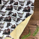 The Little Fawn Curious otters Blanket