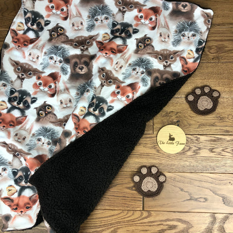 The Little Fawn Woodland Creatures Blanket