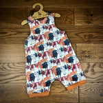 Till the cows come home short cuffed Romper 0-4 years