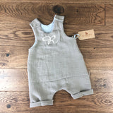 The Little Fawn Muslin Romper with rolled cuffs 0-4 years - All Colours