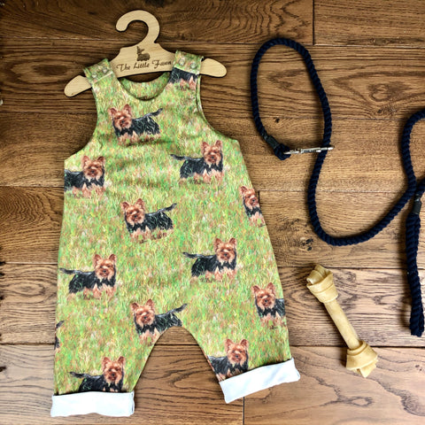 The Little Fawn - Dog Breeds - ALL BREEDS Romper with rolled cuffs 0-4 years