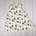 The Little Fawn Pheasant A-Line Dress 0-4 years