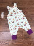 The Little Fawn Pheasant Romper 0-4 years