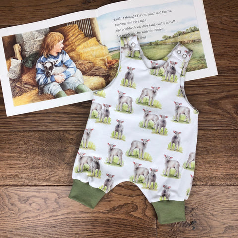 The Little Fawn Little Lambs Romper 0-4 years