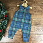 The Little Fawn Tartan Tweed Effect Romper 0-4 years